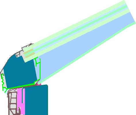 Image of 1071sk03: Skylight (Continuous roof light)